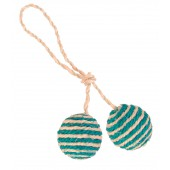 2 Balls on a Rope, Sisal - Ø 4,5 cm