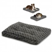 MIDWEST Ombre' Swirl Fur Pet Bed - Grey