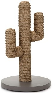 Designed By Lotte - CACTUS Houten Krabpaal Taupe - 35 x 35 x 60 cm