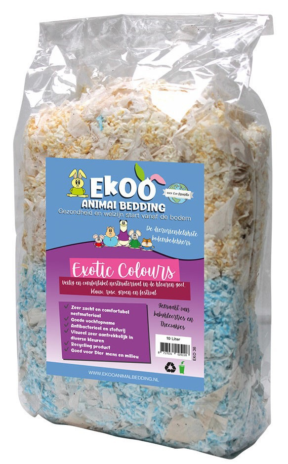 Nestmateriaal Exotic Colours & Teabags - 3 Ltr
