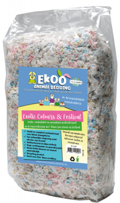 Nestmateriaal Exotic Colours & Teabags - 10 Ltr
