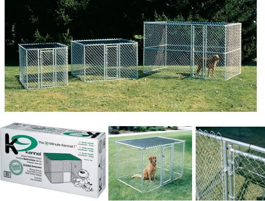 MIDWEST - Chain Link Kennel - 183x183x122cm  (LxBxH)