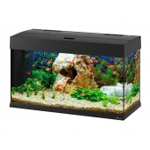 DUBAI 80 LED BLACK - Aquarium van Ferplast - 81x36x51 cm