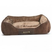SCRUFFS Chester Box Bed Chocolate XL