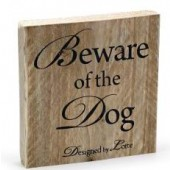 Designed By Lotte - BEWARE OF THE DOG Tekstbord - 19,5 x 19,5 cm