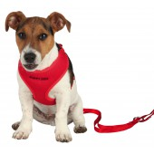 Puppy Harnas soft - 33/47 cm-10 mm - ROOD