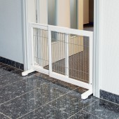 Dog Barrier - 65-108 × 61 cm - Wit