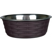 OP=OP Stainless Steel Bowl with Rattan - in 3 maten