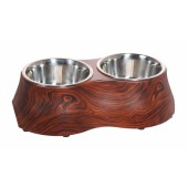 DOG IT - DESIGN Melamine Dubbele Voerbak - 2 x 380ml