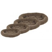 CUSHION SHERPA OVAL BROWN - in 4 maten