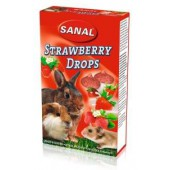 SANAL Strawberry DROPS voor Knaagdieren - 45 Gram