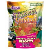 Brown's Tropical Carnival Parrot and Macaw Biscotti Treat