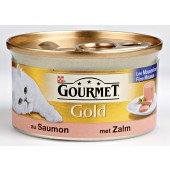 GOURMET - GOLD MOUSSE 85 GR ZALM ADULT